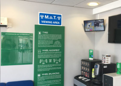 MOT Bay viewing and waiting area