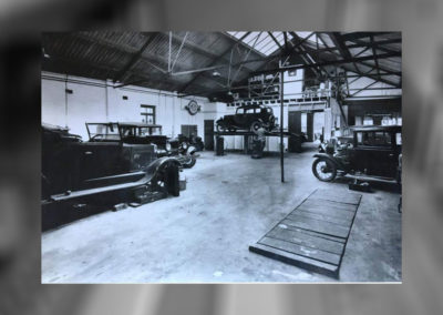 The historic garage in Poole that now houses the modern MOT Bay