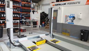 MOT Testing Bay Layout Example Lift in tyre shop