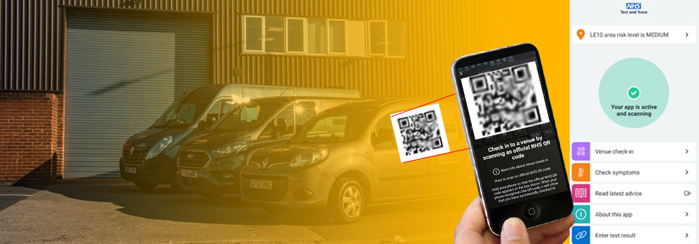 Make sure your customers are scanning the COVID-19 track and trace QR code.