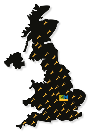 ISN Garage Assist engineers are located across the entire UK!