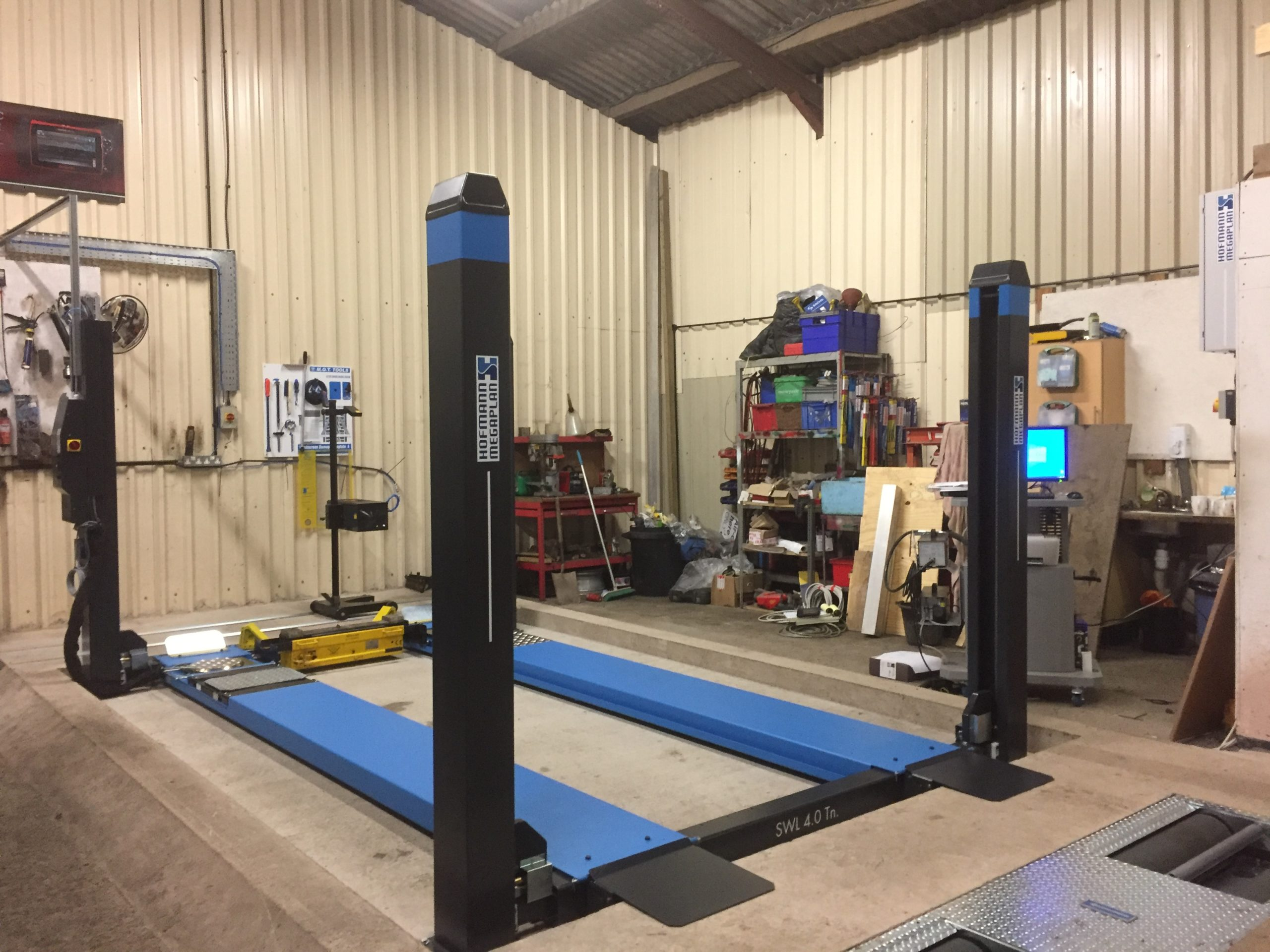 A very nice and fully completed MOT Bay installation at B&C Autos garage in Nantwich.