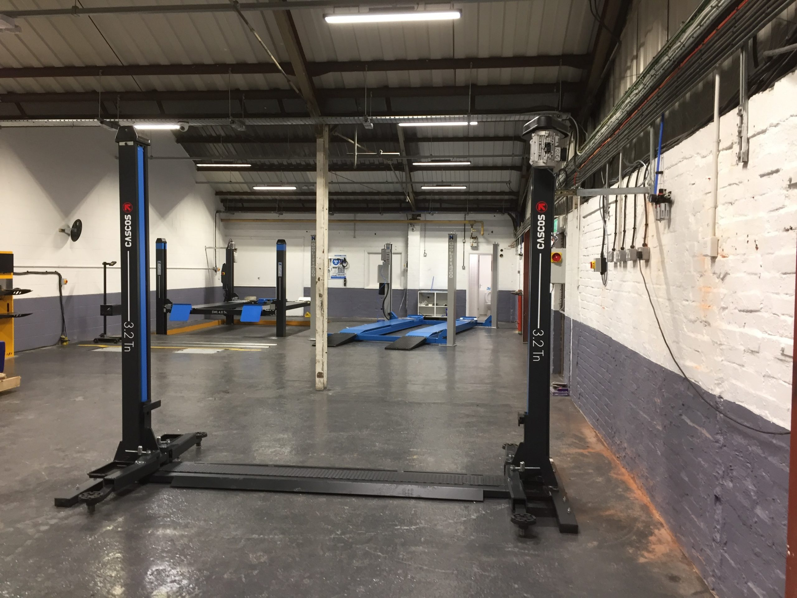 Our expert team delivered and installed all the garage lifting equipment and MOT Bay equipment, that Autotechnics in Merton needed for successful garage services.