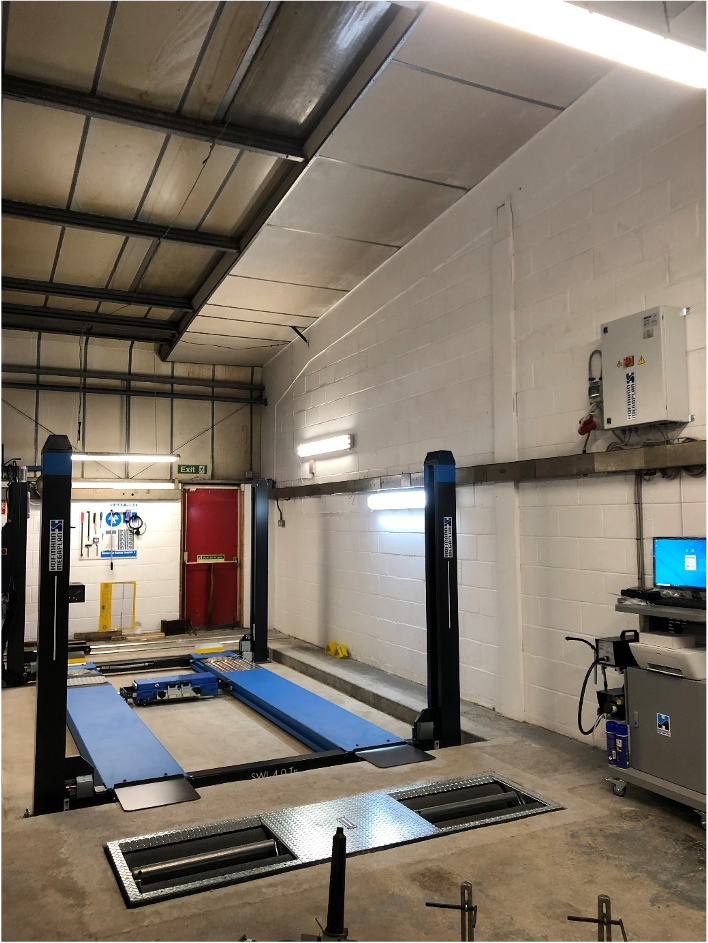 A fully designed and installed MOT Bay facility at Macs Autocare in Dorking.