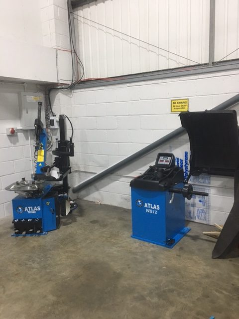 Our team recently installed brand new Atlas Auto tyre fitting equipment at Peterborough Skills Academy.