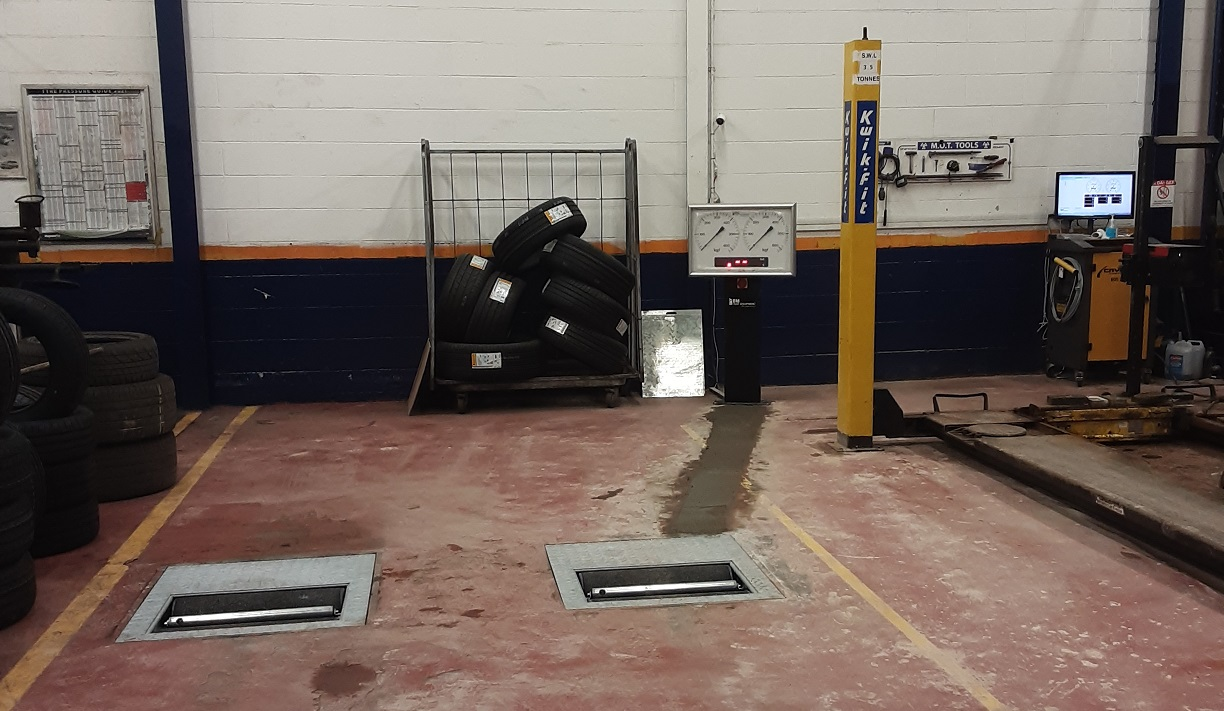 Our team travelled the length of the UK to perform the recent upgrade of Kwik Fit Milngavie's MOT brake tester.