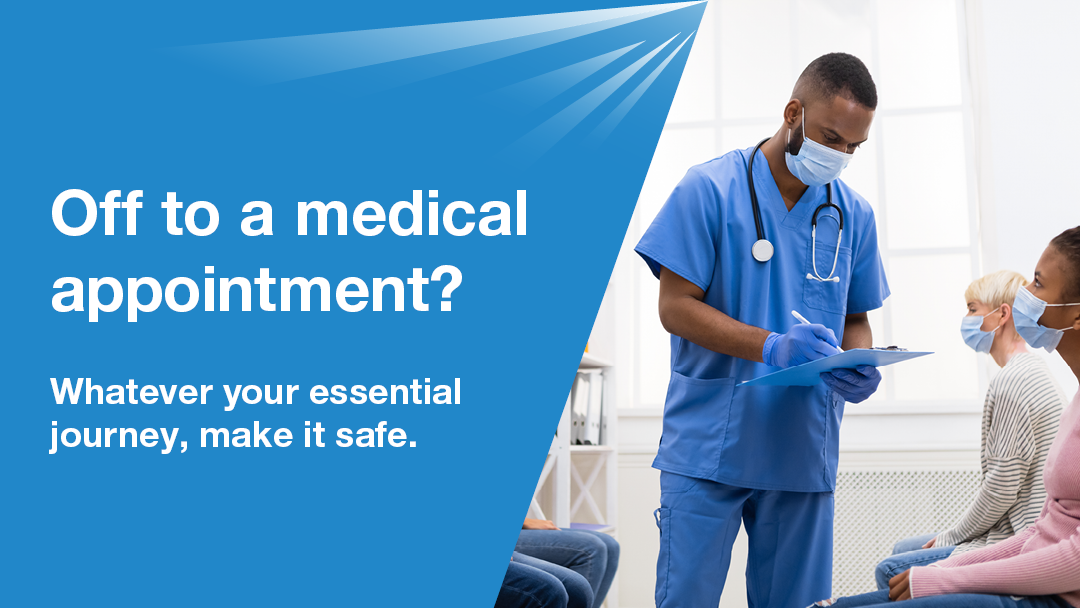 You need to ensure your vehicle is safe to drive, especially when trying to reach a medical appointment.