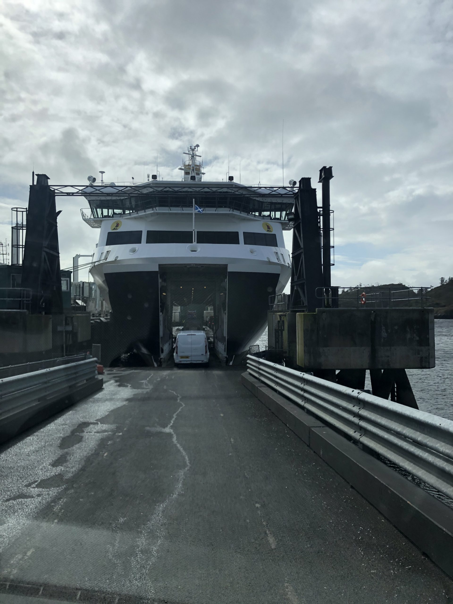 A short ferry ride to the lovely Isle of Lewis to complete the installation of a 4 Post Lift.