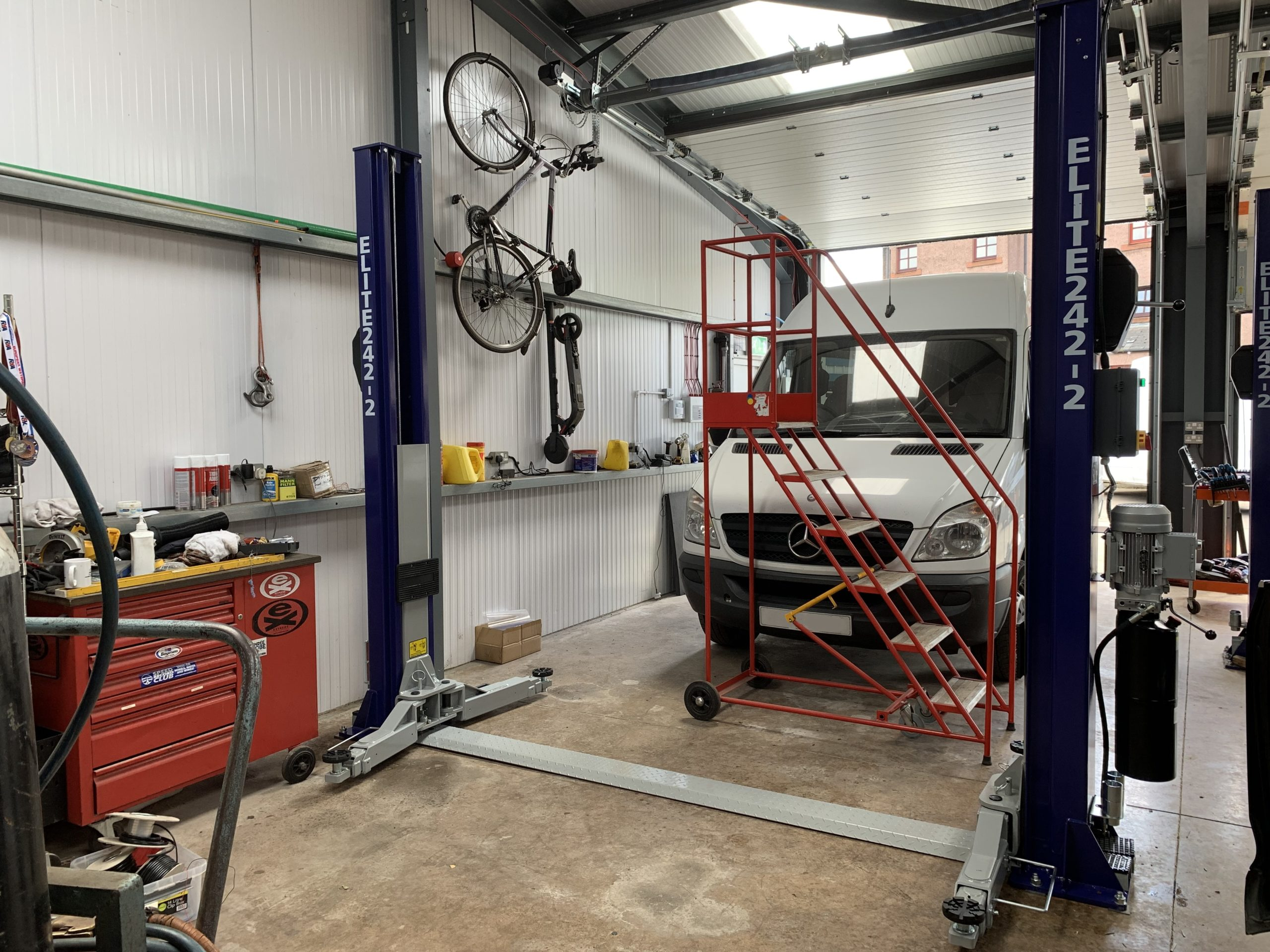 This is the third 2 post lift of the same brand and model that the ISN Garage Assist team have installed at Finlayson Autos.