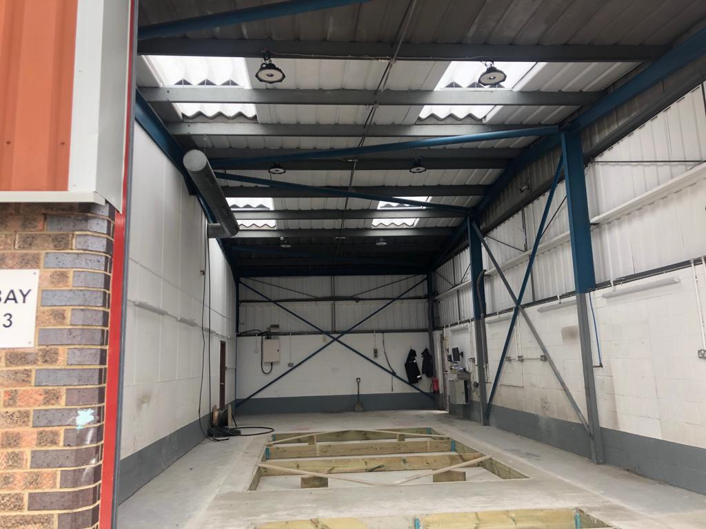 Installation of a brand new MOT Bay at Rackhams in Ipswich.